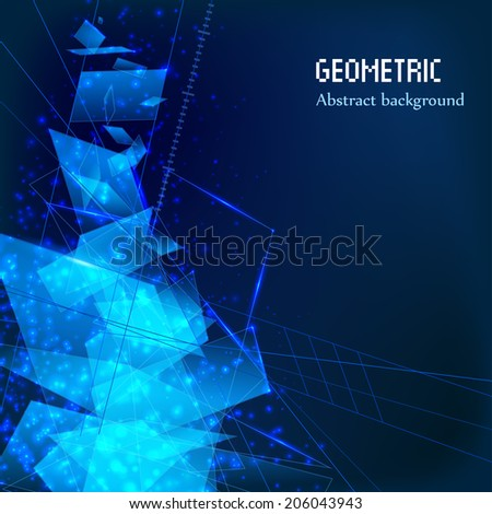Abstract technology background.  Vector illustration. eps 10 - stock vector