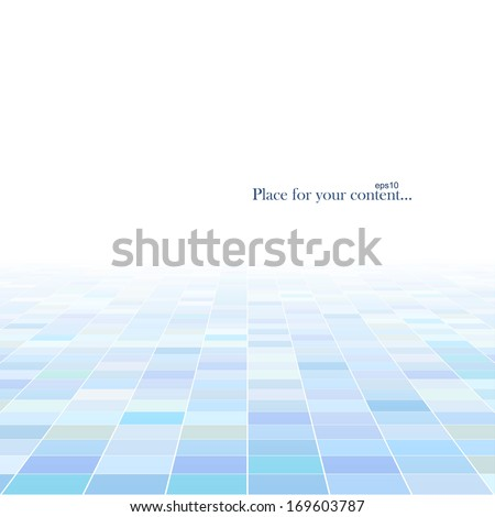 Abstract technology background with a perspective. Vector illustration. - stock vector