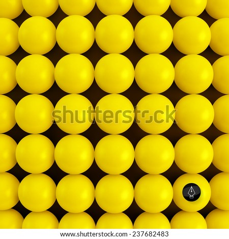 Abstract technology background with balls. Spherical pattern. 3d vector illustration.   - stock vector