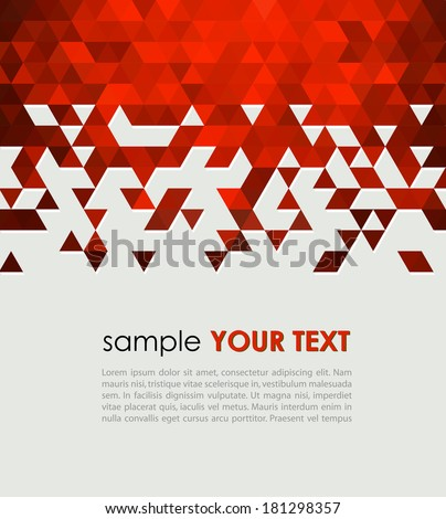 Abstract technology background  with triangle. Vector illustration. - stock vector