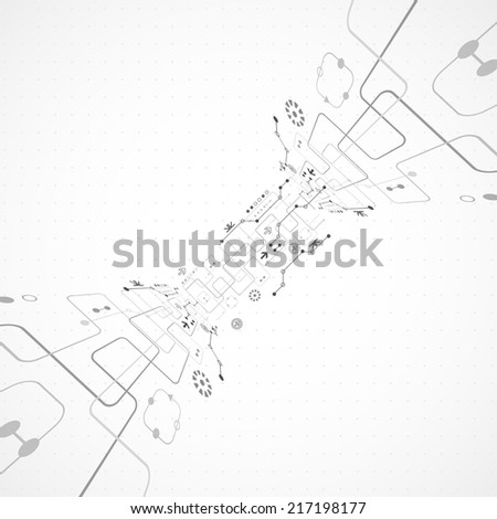 Abstract technology business background - stock vector