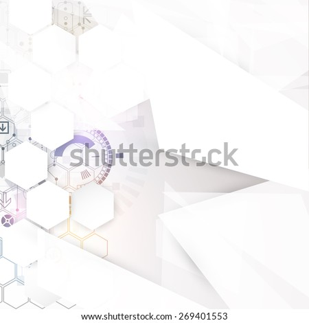 Abstract technology business background. Vector - stock vector