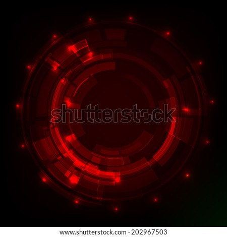 abstract technology circle. Vector illustration. - stock vector