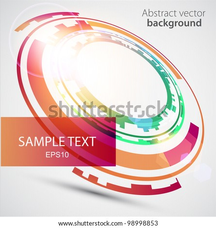 Abstract technology circles. - stock vector