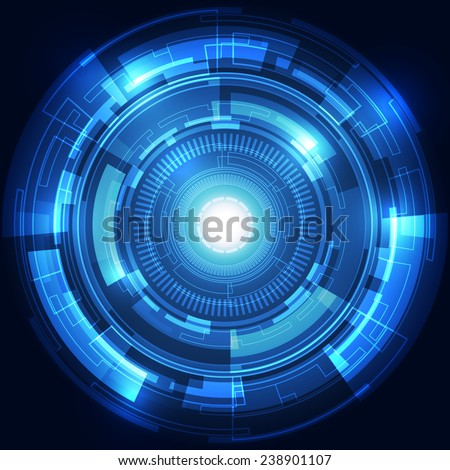 Abstract technology concept background, vector illustration - stock vector