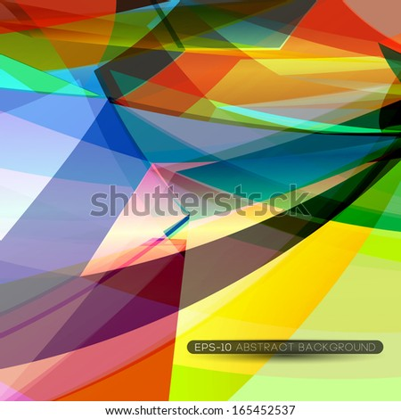 abstract technology concept futuristic background with 3d effect - stock vector