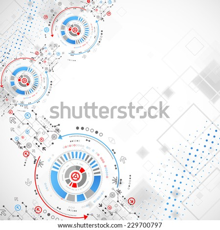 Abstract technology concept of business background - stock vector