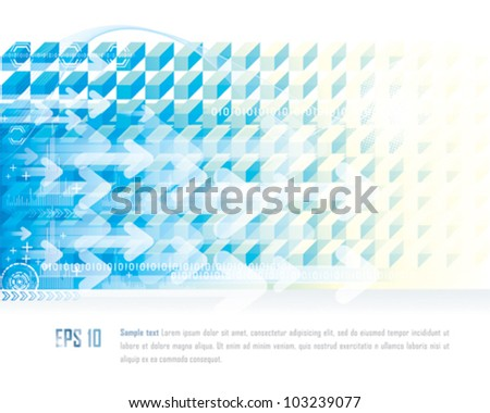 Abstract technology connection background. - stock vector