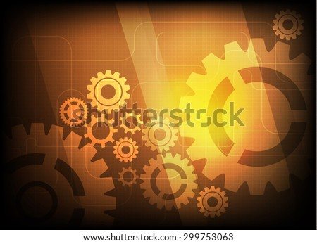 Abstract technology digital concept background,gear background vector illustration  - stock vector