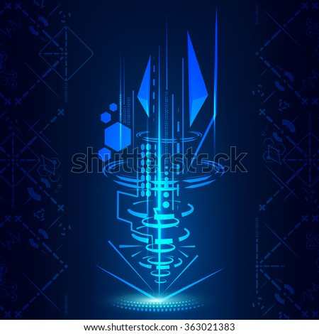 Abstract technology digital futuristic future lines background vector - stock vector