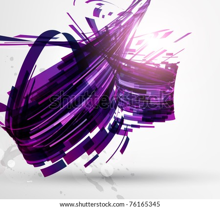 Abstract technology futuristic high-tech design for unusual fabulous backgrounds. Vector eps 10. - stock vector