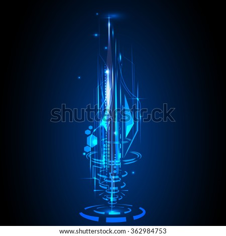 Abstract technology lines transfer big data hi speed futuristic future interface background connection vector - stock vector