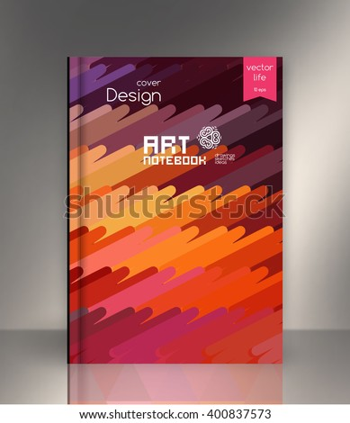 Abstract technology lines vector background, Bright colored stripes. Cover for technology companies, construction industry - stock vector