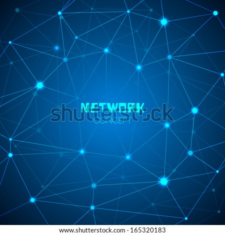 Abstract technology network concept vector illustration - stock vector