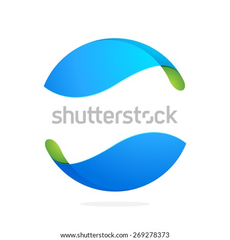 Abstract technology sphere logo. High quality vector template.  - stock vector