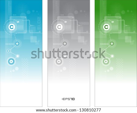Abstract technology vector banners - stock vector