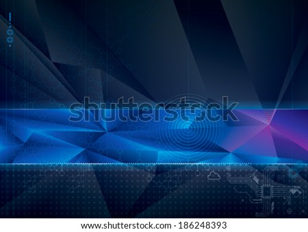Abstract technology with geometric background.  - stock vector