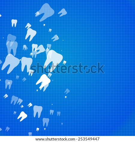 Abstract teeth background - stock vector