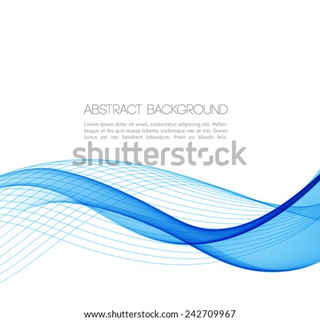 Abstract template background with wave - stock vector