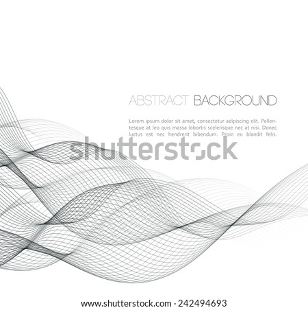 Abstract template background with wave design - stock vector