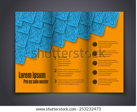 Abstract template brochure for design. eps 10 - stock vector