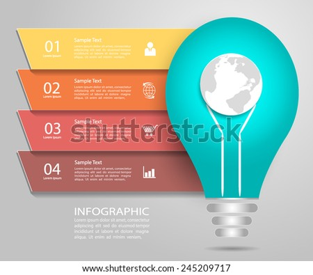 Abstract Template. Can be used for workflow layout, banner, diagram, web design, infographic Vector Eps10 - stock vector