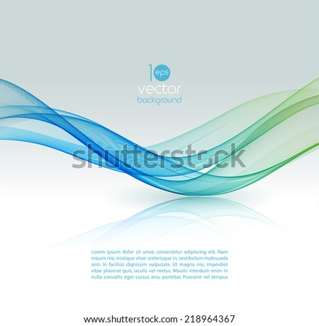 Abstract template design background - stock vector