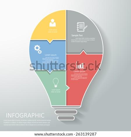 Abstract template light bulb. Vector Eps10 - stock vector