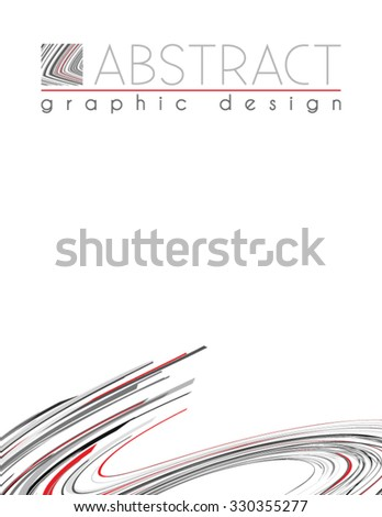 Abstract template of page with black, red and gray thin strips. Vector graphic design layout - stock vector
