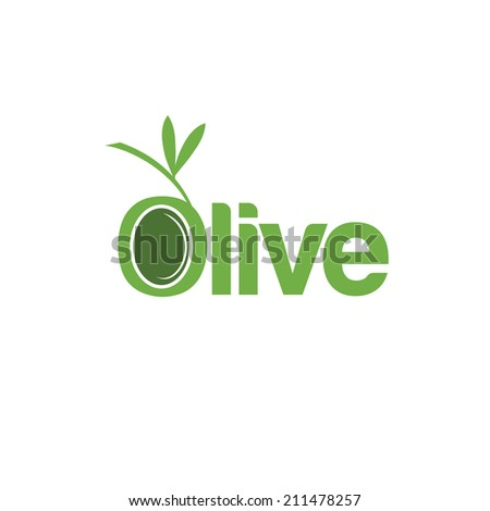 Abstract template text olive - stock vector