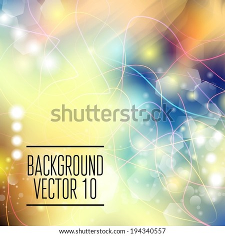 Abstract template with sparks and flashes for business artwork w - stock vector