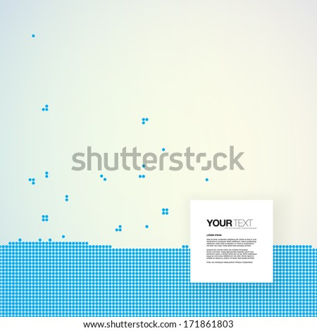 Abstract text box design with blue dots pattern background  Eps 10 vector illustration   - stock vector