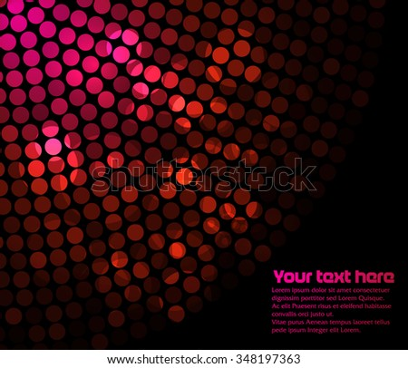 Abstract text template with flashing lights - stock vector