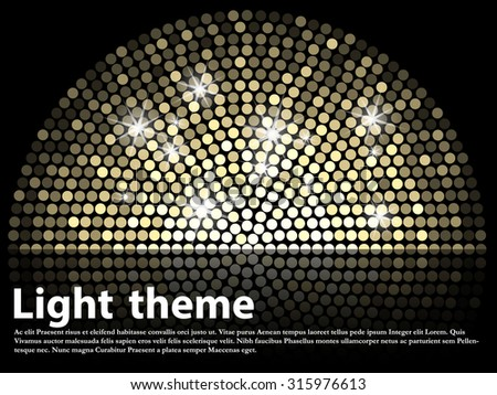 Abstract text template with lights - stock vector