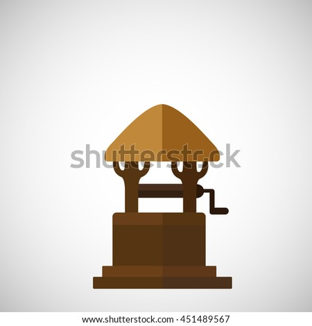abstract the well on a white background. - stock vector