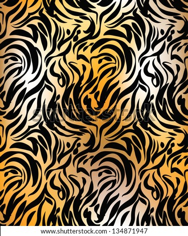 Abstract tiger skin seamless pattern - stock vector