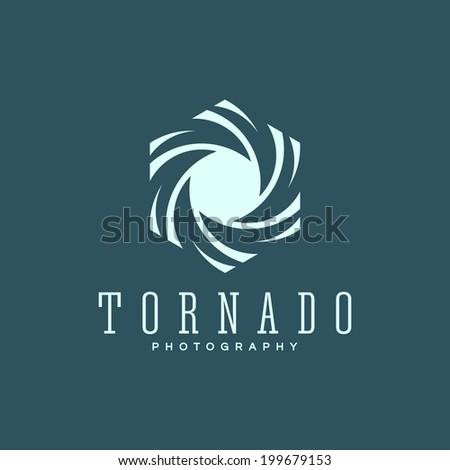 Abstract tornado symbol - stock vector