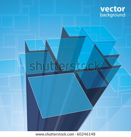 Abstract transparent blue background vector - stock vector