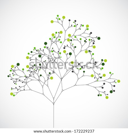 Abstract tree. Ecology background - stock vector