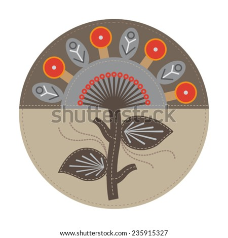 abstract tree for print, design, web-design and other creative artworks - stock vector
