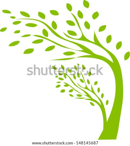 abstract tree, symbol of nature  - stock vector