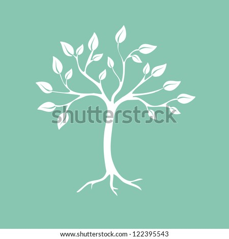 Abstract tree. Vector illustration - stock vector