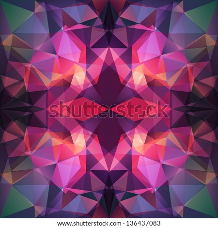 Abstract Triangle Background, seamless pattern.  Seamless pattern can be used for wallpaper, pattern fills, web page background, surface textures. - stock vector