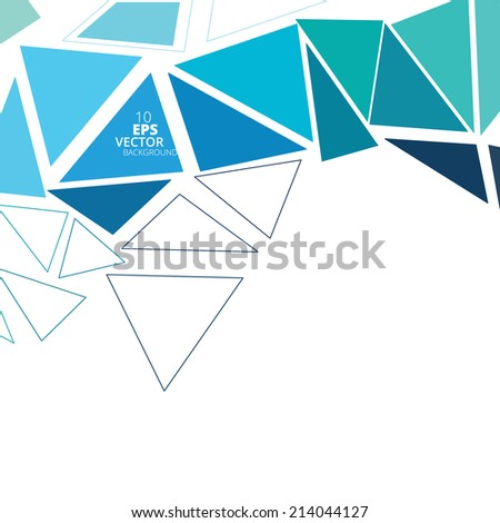 Abstract triangle background, vector illustration eps10 - stock vector