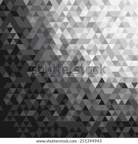 Abstract Triangle Black And White Tone Background.Vector Illustration - stock vector