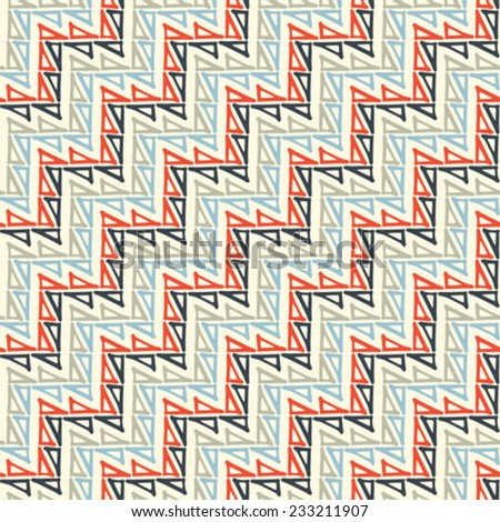 Abstract triangle build diagonal zigzag stroke background. Seamless pattern. Vector.  - stock vector
