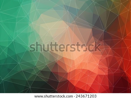 Abstract Triangle Geometrical Multicolored Background for your web design - stock vector