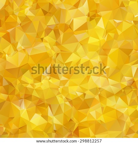 Abstract triangle gold texture background - stock vector