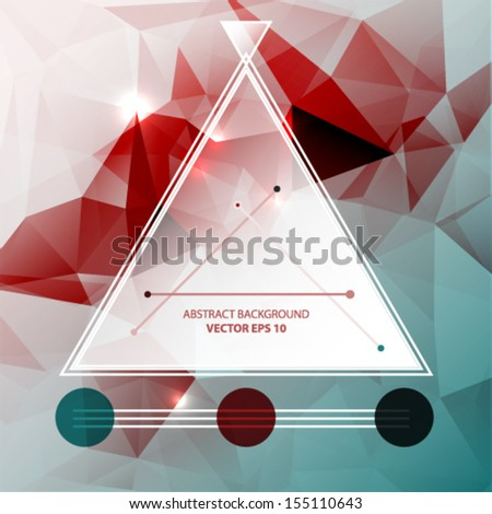 Abstract triangle light background. Vector illustration  - stock vector