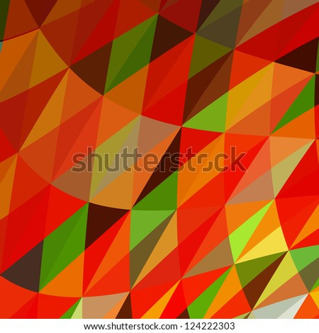 Abstract Triangle Mosaic Vector Background - stock vector